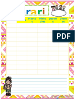 Agenda Escolar 1 Formatos Editables
