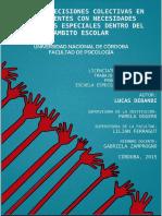 TOMA DE DECISIONES COLECTIVAS EN ADOLESCENTES CON NECESIDADES EDUCATIVAS ESPECIALES DENTRO DEL ÁMBITO ESCOLAR