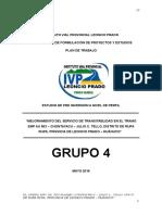 ESTUDIO DE PRE INVERSIÓN A NIVEL DE PERFIL (MEJORAMIENTO DEL SERVICIO DE TRANSITABLIDAD EN EL TRAMO EMP AU 503 – CHONTAYACU – JULIO C. TELLO)