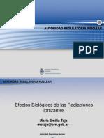 Efectos Biológicos de Las Radiaciones Ionizantes- Autoridad Regulatoria Nuclear
