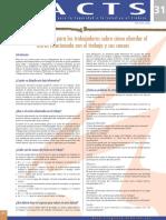 Factsheet 31 - Consejos Practicos Para Los Trabajadores Sobre Como Abordar El Estres Relacionado Con El Trabajo y Sus Causas