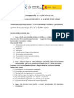 Seminario Internacional Delincuencia Economica y Sociedad