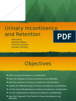 Urinary Incontinence and Retention Grup10