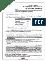 Prova de Geografia - Concurso para PII SME RJ 2011