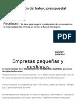 Organización Del Trabajo Presupuestal, Presupuesto Enmary Luzardo