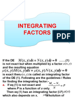 Integrating Factors