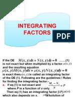 Integrating Factors