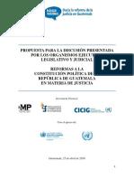 PROPUESTAS DE REFORMAS A LA CONSTITUCIÓN POLÍTICA DE LA REPÚBLICA DE GUATEMALA EN MATERIA DE JUSTICIA!