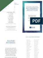 Retirement Reception 2016 Program