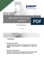 Mercado Financeiro e de Capitais Apresentac3a7c3a3o