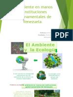 El Ambiente en Manos de Instituciones Gubernamentales de Venezuela