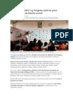 El Perú Oficializó 24 Lenguas Nativas Para Promover La Inclusión Social