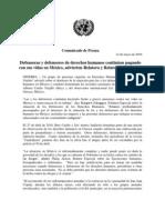 Defensores de los derechos humanos continúan pagando con sus vidas en México, advierten expertos de la ONU