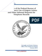 2010 01 19 A Review of the Federal Bureau of Investigations Use of Exigent Letters and other Informal Requests for Telephone Records | DOJ Inspector General.pdf
