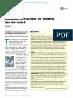 prescripción de antibióticos por dentistas ha incrementado