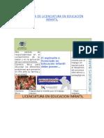 PROGRAMA DE LICENCIATURA EN EDUCACION INFANTILACIÓN INFANTIL