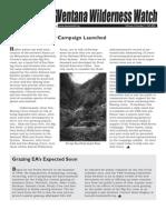 Ventana Wilderness Watch Newsletter, Fall 2003 ~ Ventana Wilderness Alliance