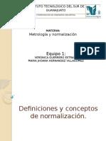 Definiciones y Conceptos de Normalización