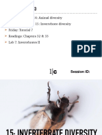 BIO153!16!15 Invertebrates