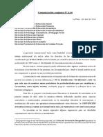 Comunicación Conjunta N° 1-16