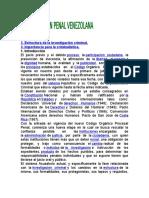 Investigación Penal en Venezuela.