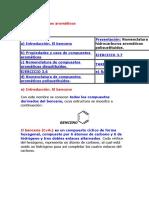5.4 Nomenclatura de Compuestos Aromáticos