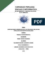 DISPOSICIONES GENERALES DE LOS PROCESOS CONSTITUCIONALES