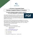 Customer Grievance Procedure