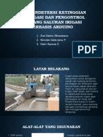 Alat Pendeteksi Ketinggian Air Irigasi Dan Pengontrol Gerbang