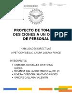 Proyecto de Toma de Desiciones a Un Corte de Personal