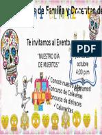 Invitacion Dia de Muertos
