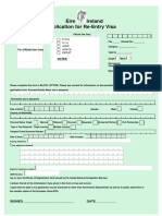Reentry Visa App Form