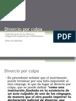Divorcio Por Culpa deber de fidelidad