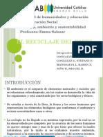 (ecología) El reciclaje del papel