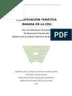 Clasificacion Tematica Basada en La c.d.u.