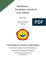 Contoh Penulisan Proposal Praktek Kerja 1
