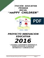 Proyecto de Innovación Educativa