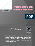 Proyecto de Intervención Social