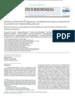 """2013-Consenso Nacional Sobre El Diagnã""""Stico, Estratificaciã""""n de Riesgo y Tratamiento de Los Pacientes Con Tromboembolia Pulmonar"""