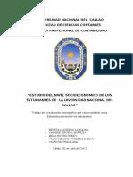 Estudio Del Nivel Socioeconomico de Los Estudiantes de La Universidad Nacional Del Callao
