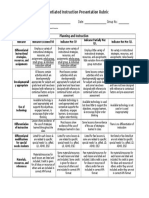 differentiated instruction unit rubric feb  29