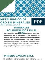 Balance Metalúrgico de Oro en Minerales Sulfurados