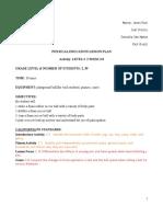 kin lesson plan pdf