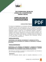 AmpLiacion ConvoCatoria