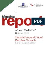 African Mediators Retreat 09