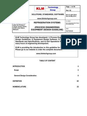 Engineering Design Guidelines Refrigeration Systems Rev02web Refrigeration Heat Pump