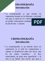 CROMATOGRAFIA, FUNDAMENTOS