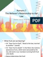 Romans 7 Cont.