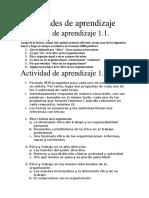 Actividades de Aprendizaje Actividad de Aprendizaje 1