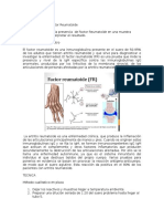 PRACTICA 9 Factor Reumatoide